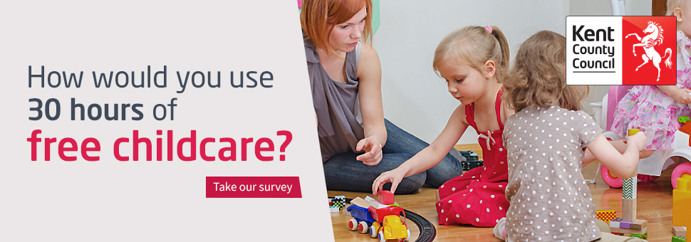 Children playing: Take our 30 hours survey
