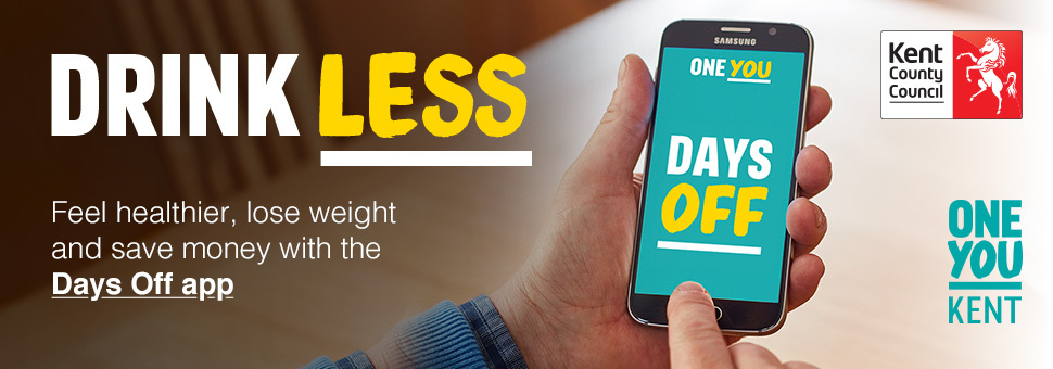 drink less banner for one you app