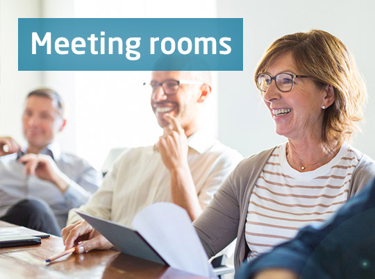 Book a meeting room with Wi-Fi and AV support for competitive prices