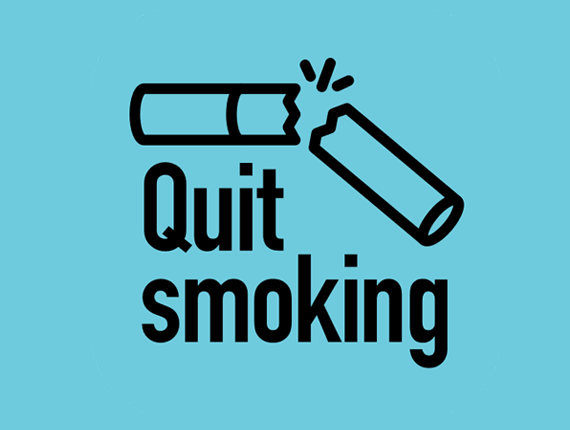 Quit smoking icon with broken cigarette