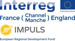 Interreg France Channel Manche England IMPLUS European regional development fund logo