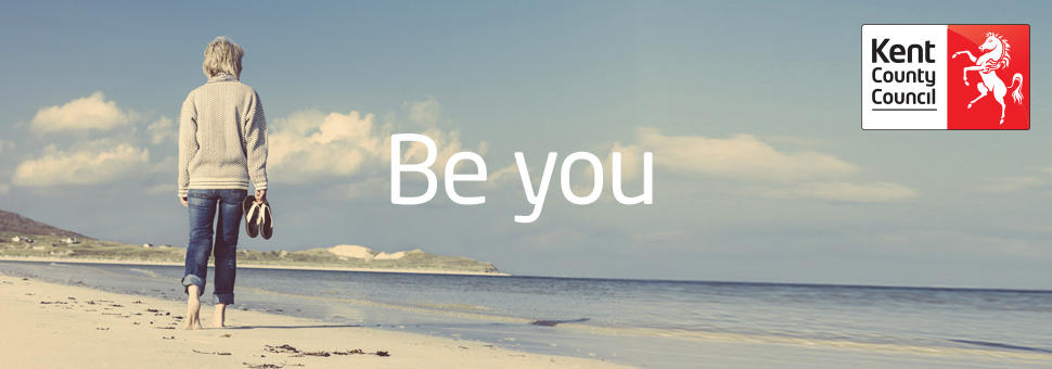 OPPD recruitment banner person on beach - be you