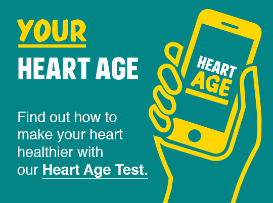 Find out how to make your heart healthier with our Heart Age Test