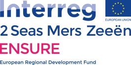 Interreg 2 Seas Mers Zeeen ENSURE logo European Regional Development Fund