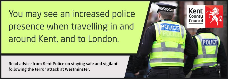Kent Police Westminster banner