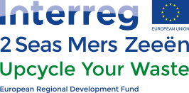 Interreg 2 Seas Mers Zeeen Upcycle Your Waste logo Eu Funding