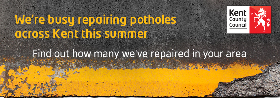 We're busy repairing potholes across Kent this summer. Find out how many we've repaired in your area.